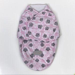 Blankets & Beyond Girls Fleece Swaddle Blanket